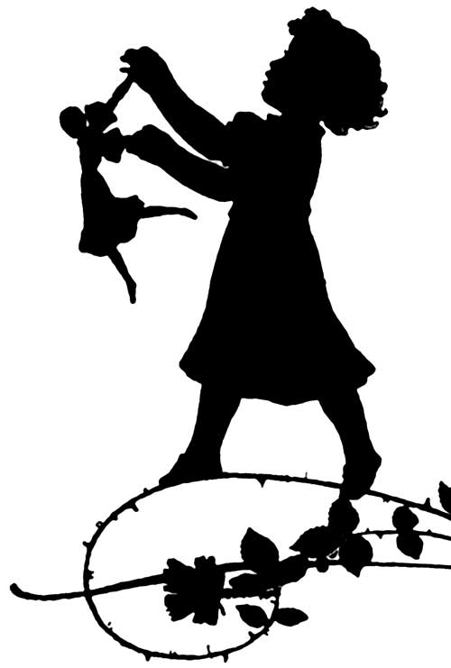 dancing girl silhouette - photo #13